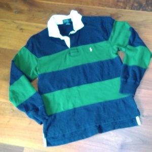 Boys Blue and Green Ralph Lauren Polo Shirt
